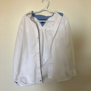 tommy hilfiger white polo button down boys